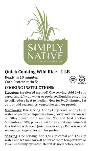 Quick Cooking Wild Rice