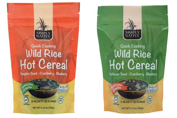 Two-Pack: Sunflower and Pumpkin Wild Rice Hot Cereal