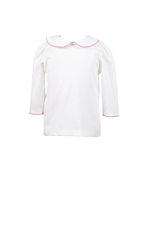 Elbow Sleeve Girl Shirt, Pink