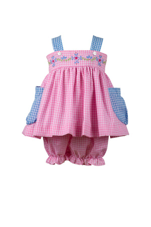 Celeste Gingham Bloomer Set