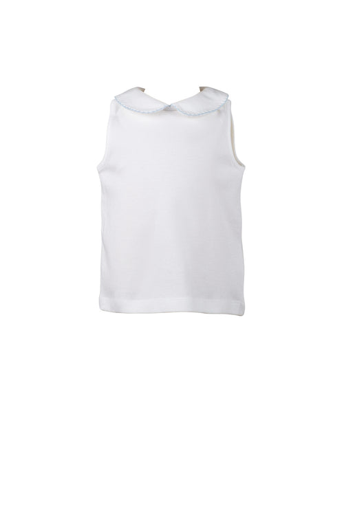 Girl Peter Pan Sleeveless Shirt