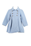 Princess Bow Back Coat - Light Blue