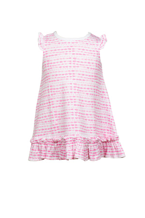 Pink Waterbead / Riley Ruffle Dress