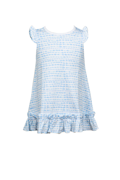 Blue Waterbead / Riley Ruffle Dress