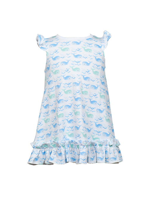 Whale / Riley Ruffle Dress