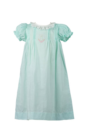 Thumper Mint Girl Layette Gown