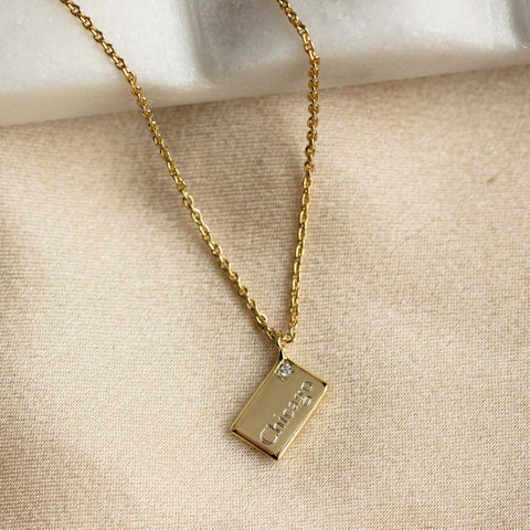 personalized engraved city necklace
