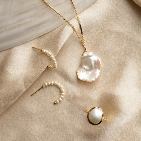 interesting and unique natural pearl jewelry