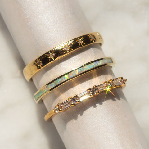 yellow gold ring bands