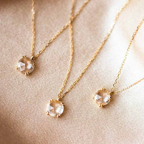 dainty solid gold necklace