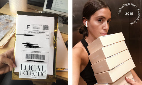 Local Eclectic founder shipping her first orders