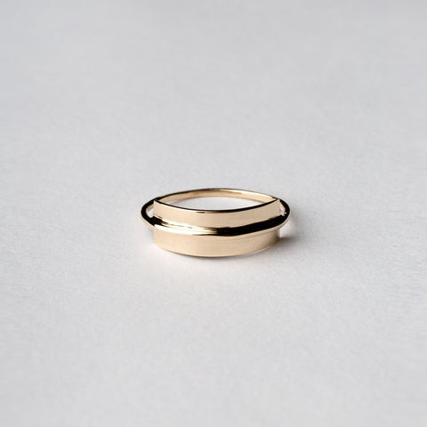 Unique solid gold ring