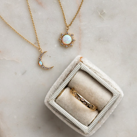 celestial inspired jewelry for Mother's Day gift