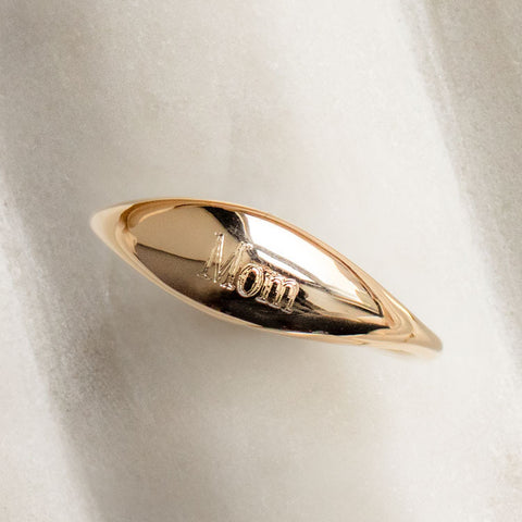personalized engraved mom ring