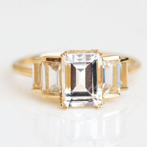 art deco inspired solid gold ring