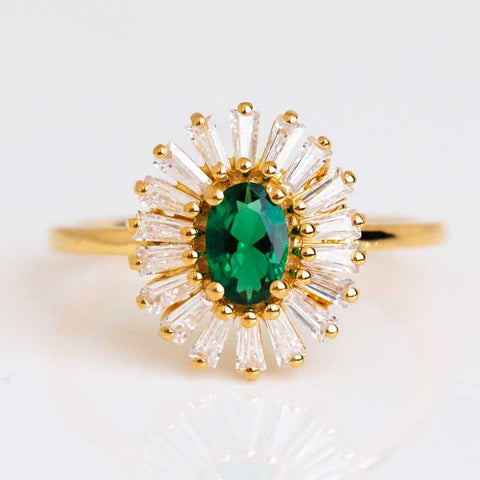 statement green stone vintage inspired ring