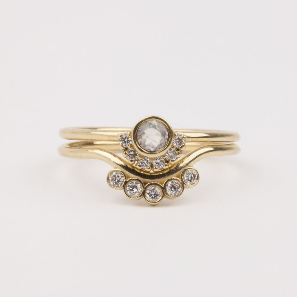 Angel Eye Stacking Ring Set