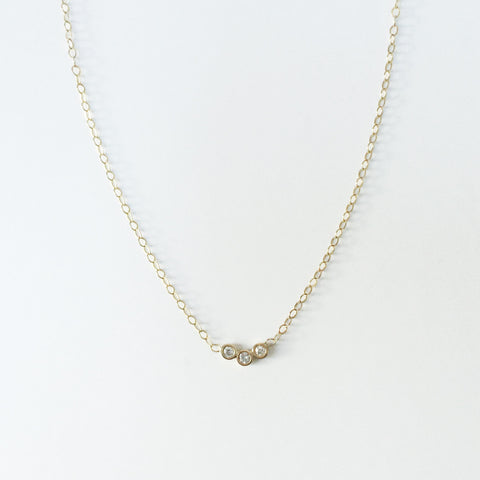 Gold Diamond Trio Necklace by La Kaiser
