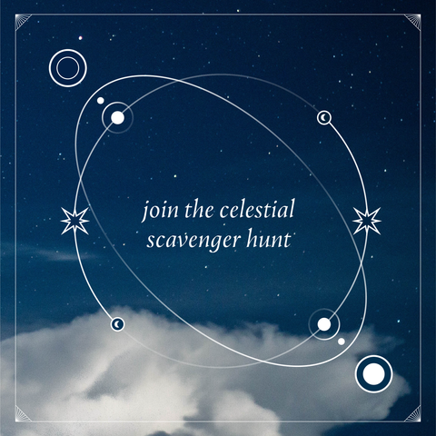 celestial scavenger hunt with night sky image