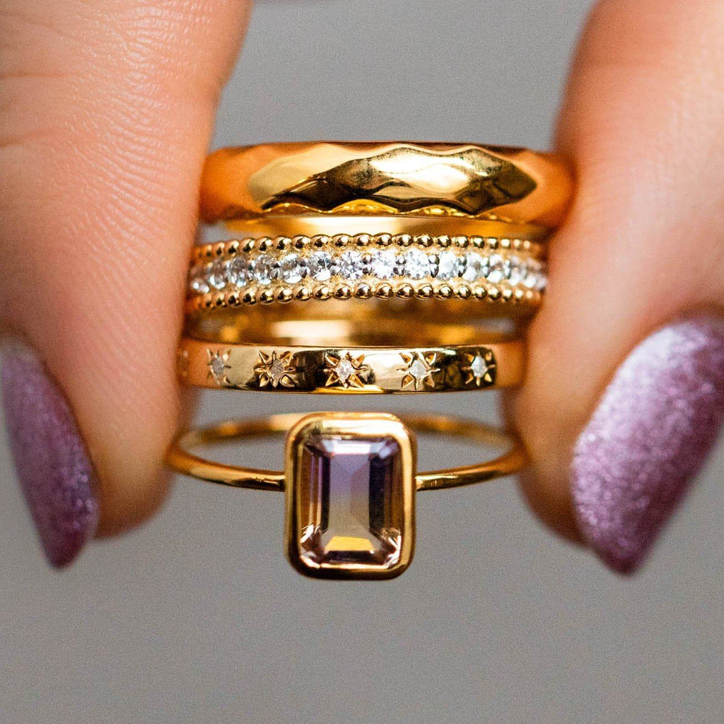 Ametrine Rectangle Bezel Set Ring