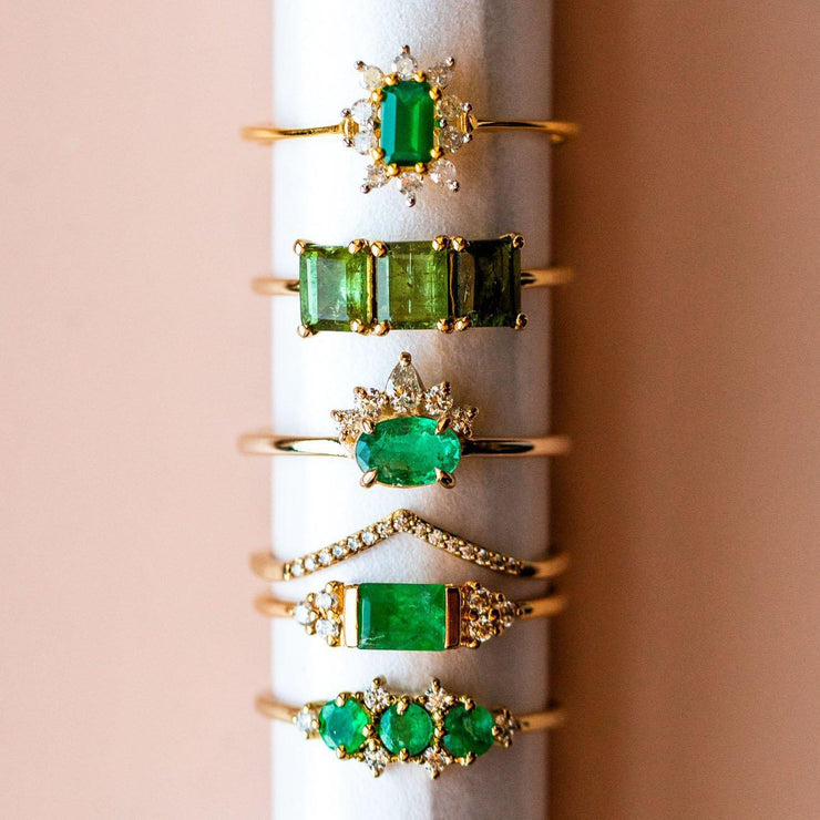 Emerald & Topaz Cleopatra Ring Stack rings La Kaiser