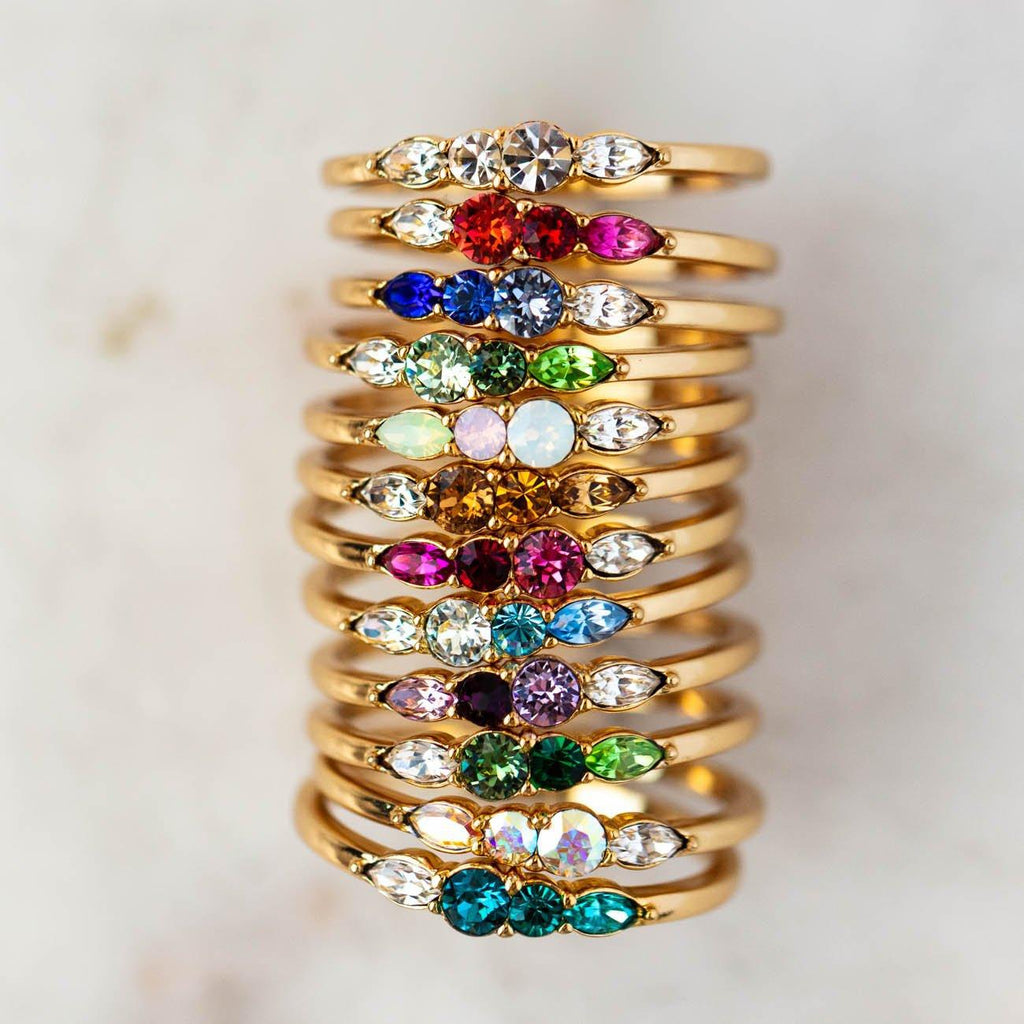 birthstone rings from local eclectic