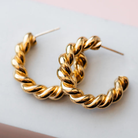 Mella Twisted Hoops