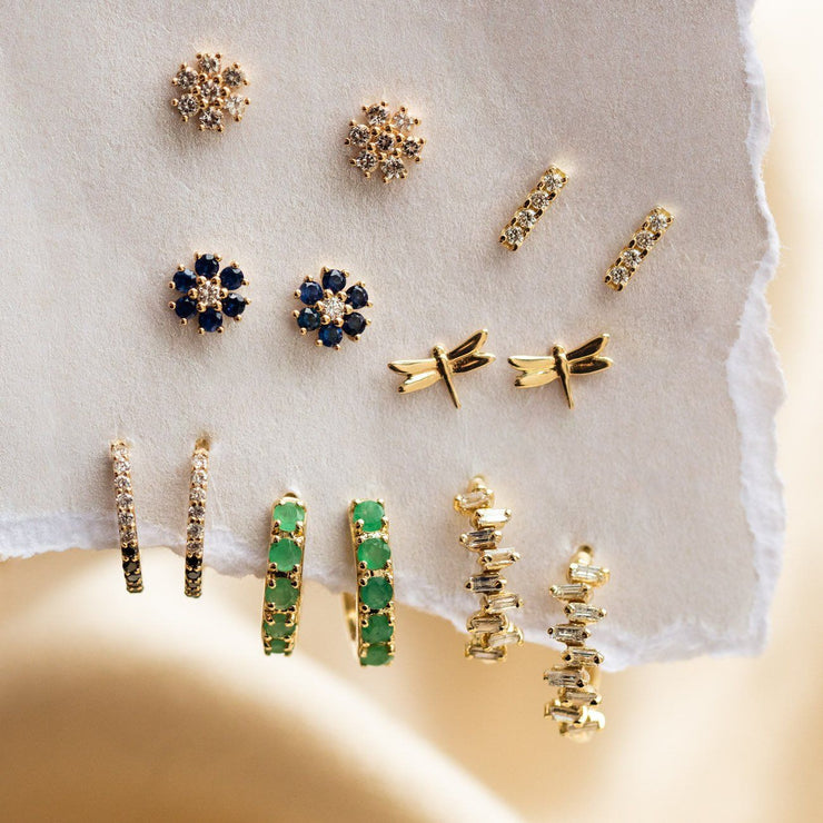 Solid Gold Dragonfly Studs