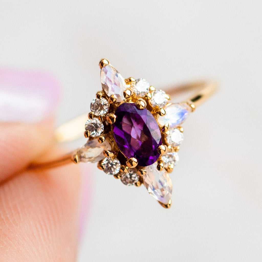 Pink Lady Ring with Amethyst