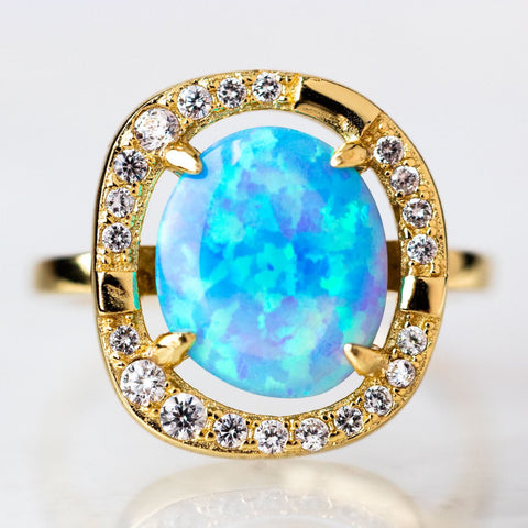 Elizabeth Ring with Opal