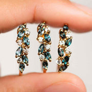 London Blue Topaz and Diamond Orchard Ring rings La Kaiser