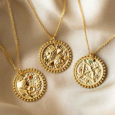 The Essential Zodiac Pendant Necklace unique personalized yellow gold personalized jewelry