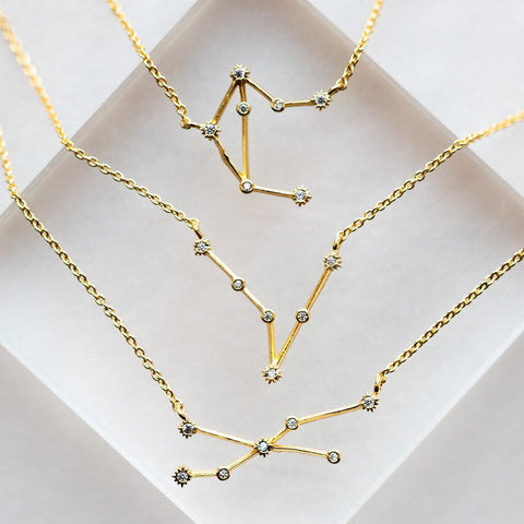 Zodiac Necklace, Constellation Necklace.