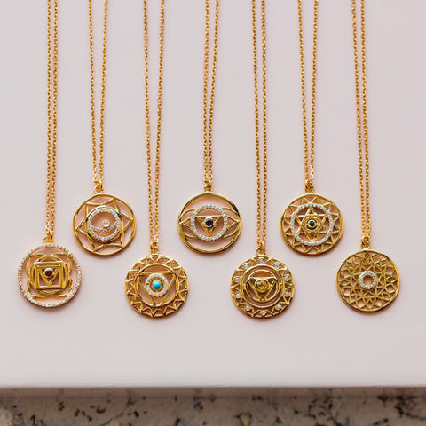 Mandala Gold Vermeil Pendant Necklace