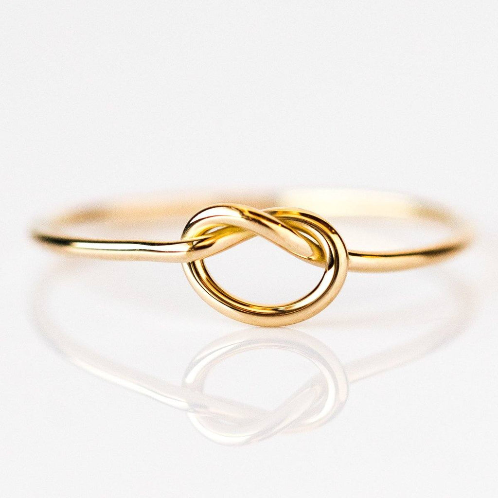 14K Gold Forget Me Knot Ring - rings - LUMO local eclectic