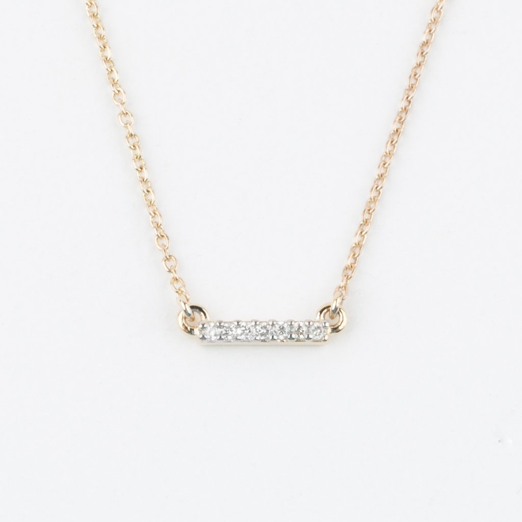 Diamond Bar Necklace - necklaces - Lust & Luster local eclectic