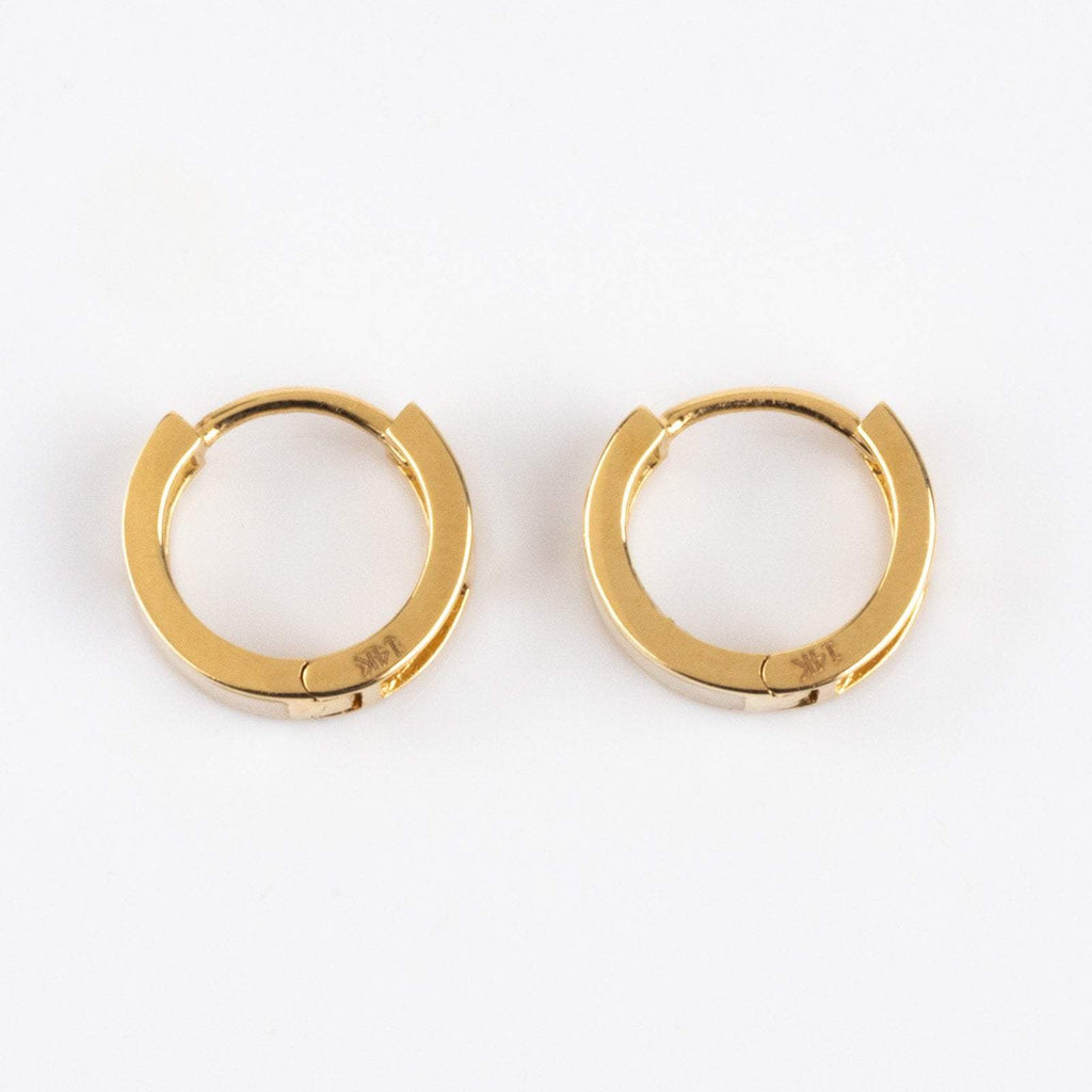 Mini Mother of Pearl Hoops