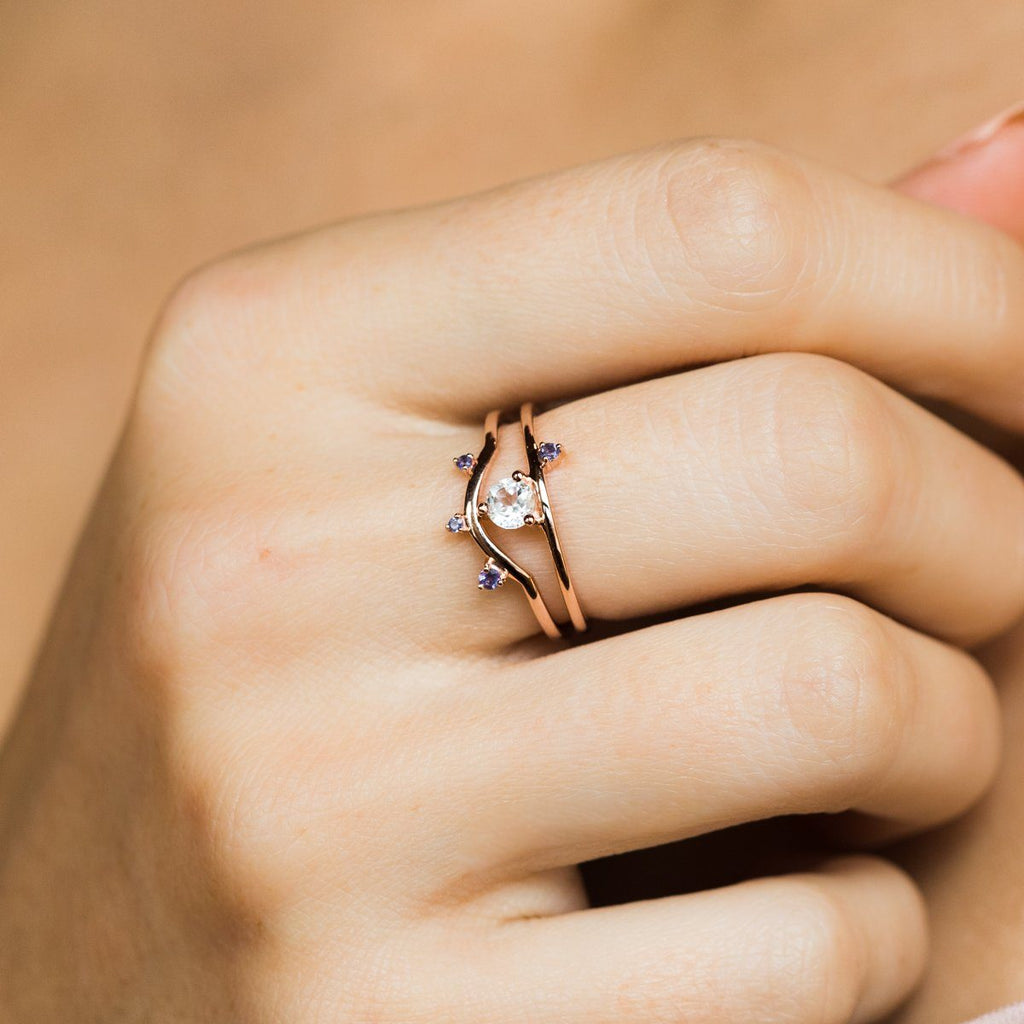 Little By Little Rose Gold Ring - rings - Aletheia & Phos local eclectic