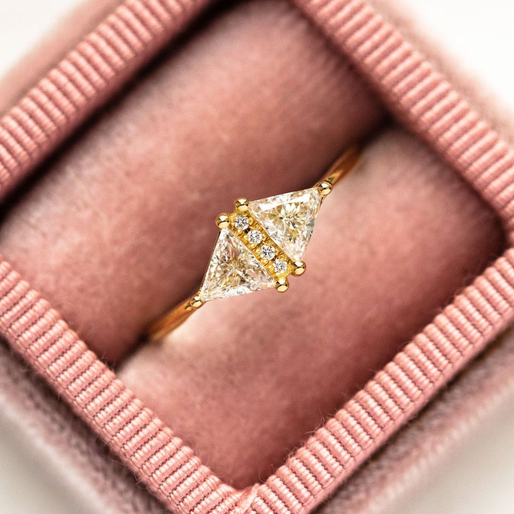 Art Deco Diamond Triangle Ring