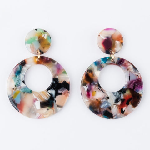 Cardon Earrings Resin Colorful Statement Earrings