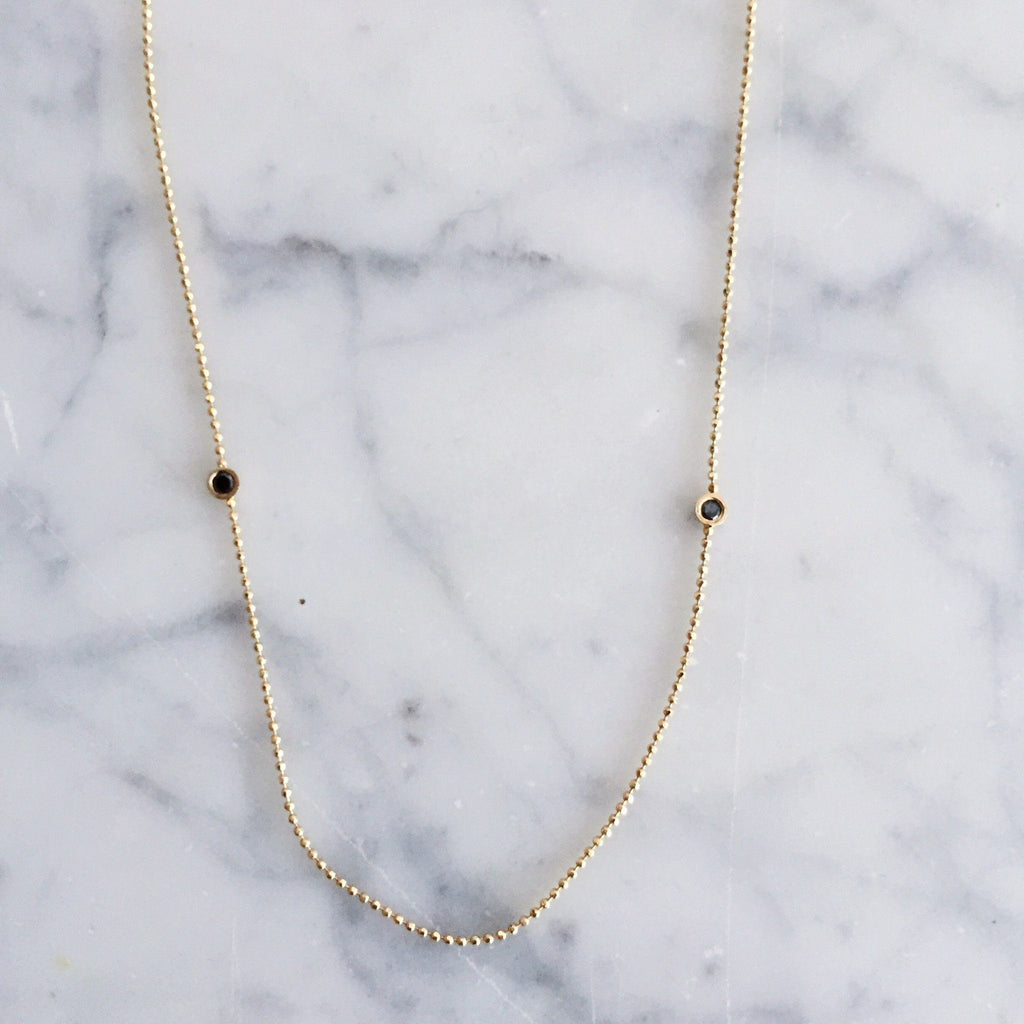 Black Diamonds Balance Necklace - local eclectic  - 4