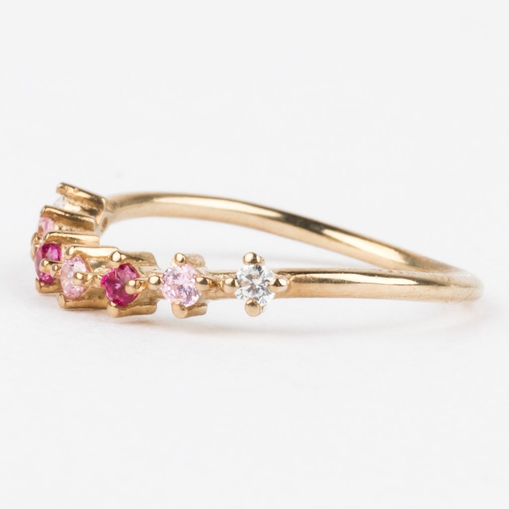 Blushing in Pink Arc Ring - rings - La Kaiser local eclectic