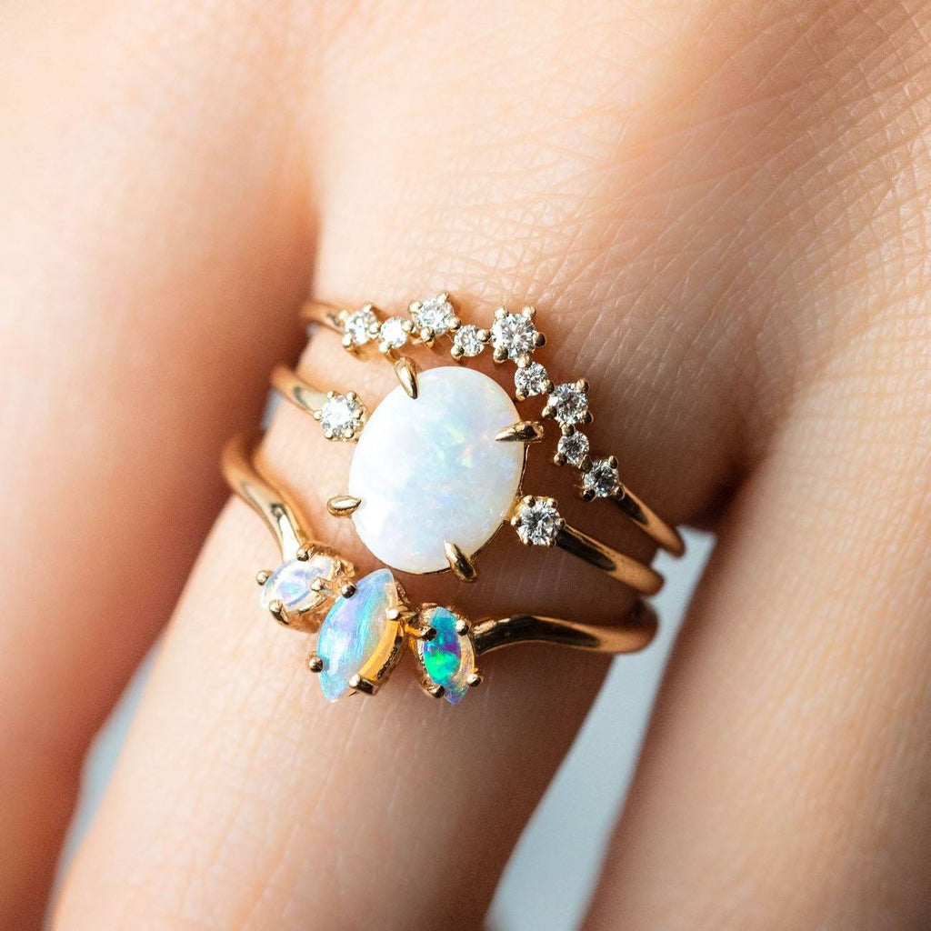 Opulent Opal Stacking Ring Set