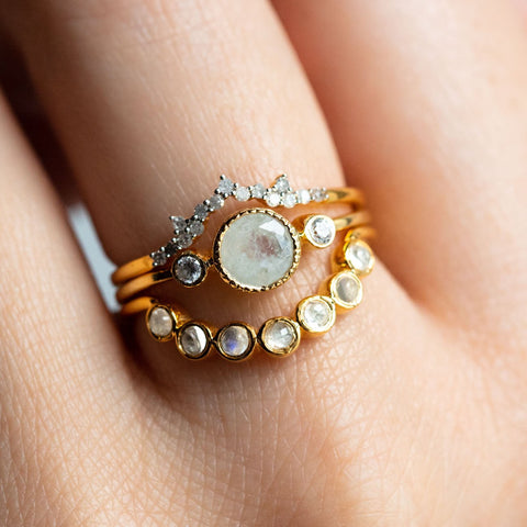 Love You Many Moons Stacking Ring Set