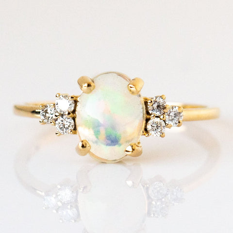 Solid Gold Opal & Diamond Lovestruck Ring