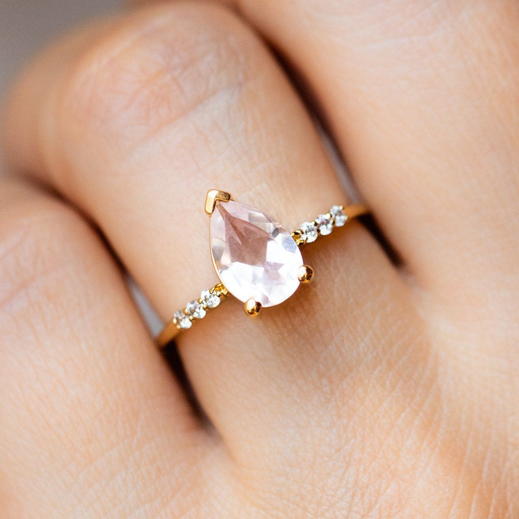 Pink Quartz Fair Lady Ring