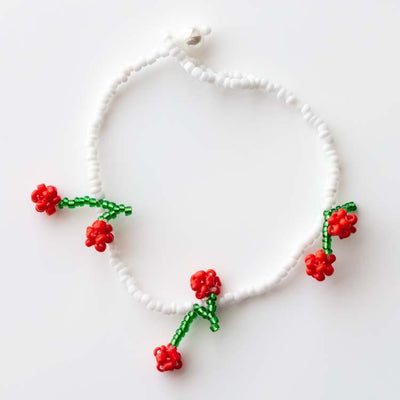 Savannah Cherry Bracelet unique beaded fruit inspired cute jewelry\
