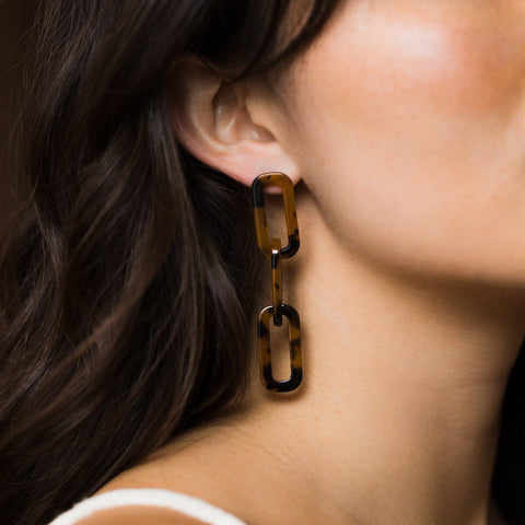 Pia Earrings in Torte - earrings - Casa Clara local eclectic