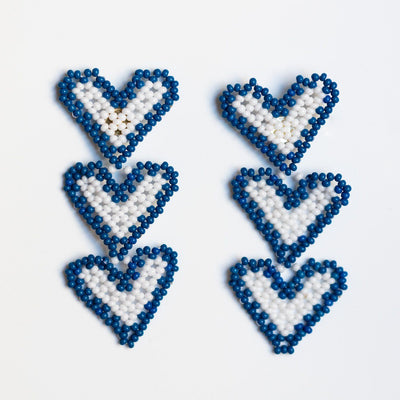 mary beaded earrings in baja hearts unique statement heart jewelry