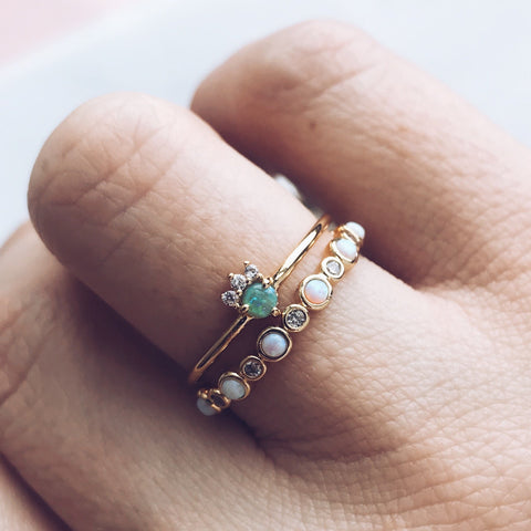 The Peekaboo Stacking Ring Set - rings - Tai Jewelry local eclectic
